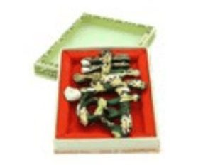 Sau Shaped Chinese Calligraphy Ink Stick with Eight Immortals