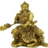 Sitting Kwan Yu of Wisdom with Sword