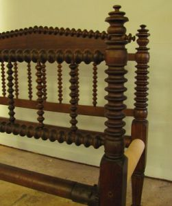 Tall Wooden Headboard With Spindles