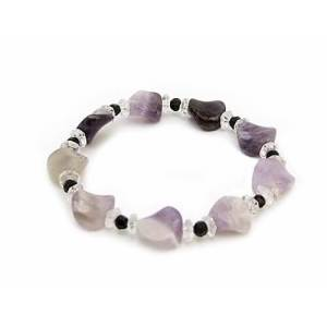 Warped Button-Shaped Amethyst Crystal Bracelet1