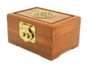 Wooden Jewellery Box with Longevity Sau Symbol