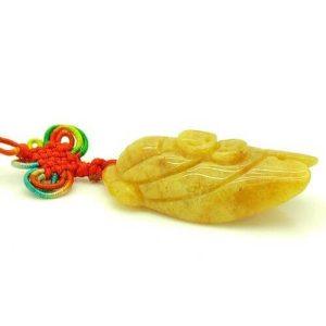Yellow Jasper Feng Shui Double Carps Tassel1