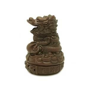 Zisha Clay Majestic Dragon Incense Burner1