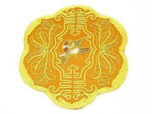 10Crt Gold Thread Silk Embroidered Bird With Sau Mat1