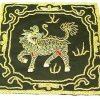 10Crt Gold Thread Silk Embroidered Kei Loon Black Mat1
