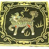 10Crt Gold Thread Silk Embroidered Kei Loon Black Mat1