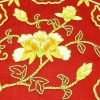10Crt Gold Thread Silk Embroidered Peony Mat2
