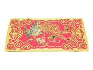 10Crt Gold Thread Silk Embroidered Phoenix Mat (Red)1