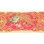 10Crt Gold Thread Silk Embroidered Phoenix Mat (Red)1