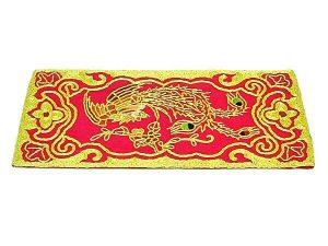 10Crt Gold Thread Silk Embroidered Phoenix Mat1