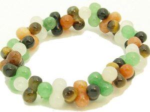 8 Shape Five Assorted Gemstones Bracelet1