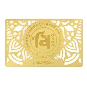 Anti-Illness Amulet Gold Talisman Card