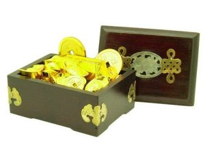 Antique Style Mystic Knot, Bat And Peony Jewelry Wealth Box1