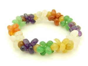 Assorted Crystals Flowers Bracelet1