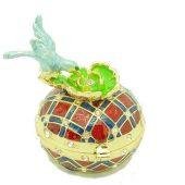 Bejeweled Wish-Fulfilling Bird On Peony