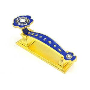 Blue Ru Yi With Eight Auspicious Symbols1