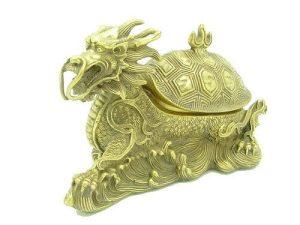 Brass Dragon Tortoise Jewelry Box1