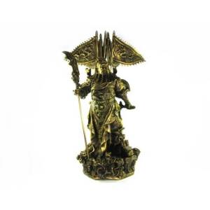 Brass Majestic Five Flags Kwan Kung Statue (XL)1