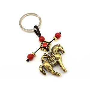 Brass Monkey on Horse Keychain1