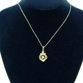 Chinese Horoscope Animal Snake Pendant w Rhodium Plated Chain1
