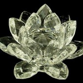 Clear Crystal Lotus Blossom Flower - 40mm1