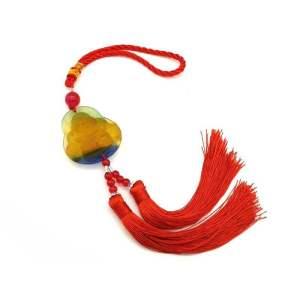 Colorful Liuli Laughing Buddha Tassel1
