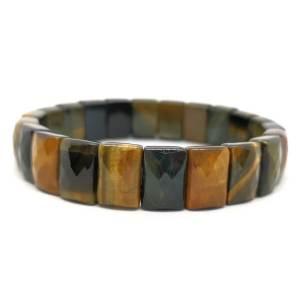 Faceted Rectangular Tiger Eye Crystal Bracelet1