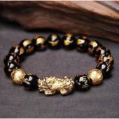 Feng Shui Pixiu Black Obsidian Wealth Bracelet1
