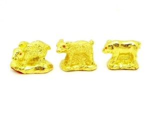 Golden Three Zodiac Buddies - Rabbit, Sheep & Boar1