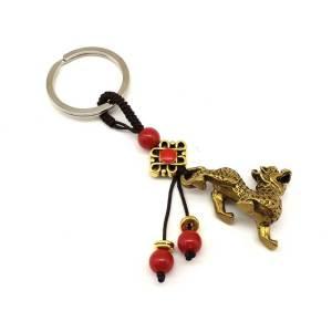 Good Fortune Brass Feng Shui Pi Yao Keychain1