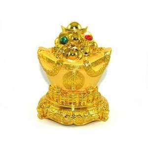 Good Fortune Golden Ingot with Treasure for Prosperity Luck1