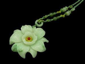 Jade Peony Mau Tan Pendant Necklace1
