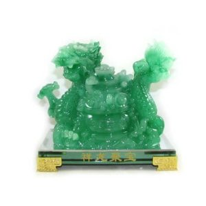 Jadeite Feng Shui Dragon with Wealth Pot for Wealth Luck1