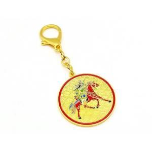 Kwan Kung On Horseback Anti-Betrayal Amulet Keychain1