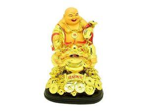 Laughing Buddha Holding Ruyi Sitting on Money Toad1