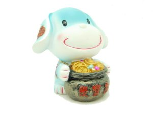 Lucky Puppy with Wealth Pot1