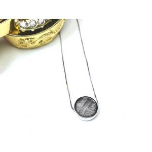 Meteorite Bead Pendant (Silver)1