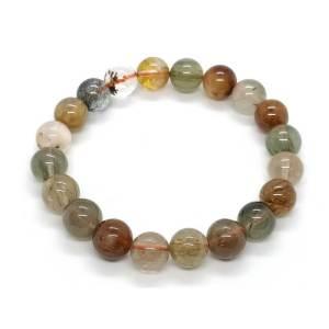 Mixed Rutilated Quartz Crystal Bracelet1
