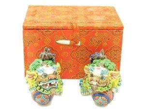 Porcelain Temple Lions For Protection1