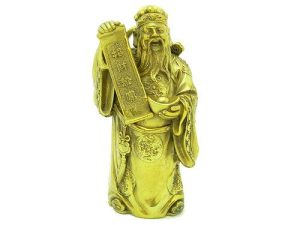 Rich Wealth God Holding Good Fortune Scroll (L)1