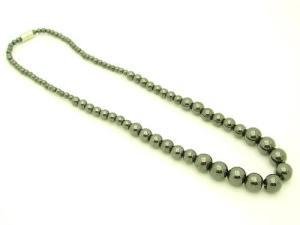 Round 4Mm To 10Mm Hematite Necklace1