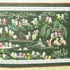 Silk Embroidered Picture Of Hundred Children - Villa and Lake3