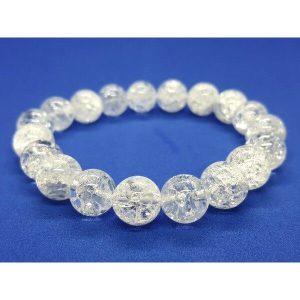 Snowy Clear Quartz Crystal Bracelet 白水晶1
