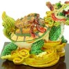 Vibrant Double Dragon Tortoises Carrying Coins And Child2