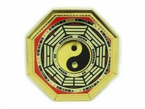 This is an old-school Bagua with an image of a Yin Yang or Tai Ji in its center.