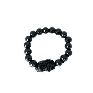Feng Shui Obsidian Stone Beads Bracelet
