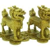 brass_pair_of_chi_lin_on_pakua_4