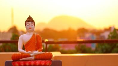 Buddha Statue by the sun