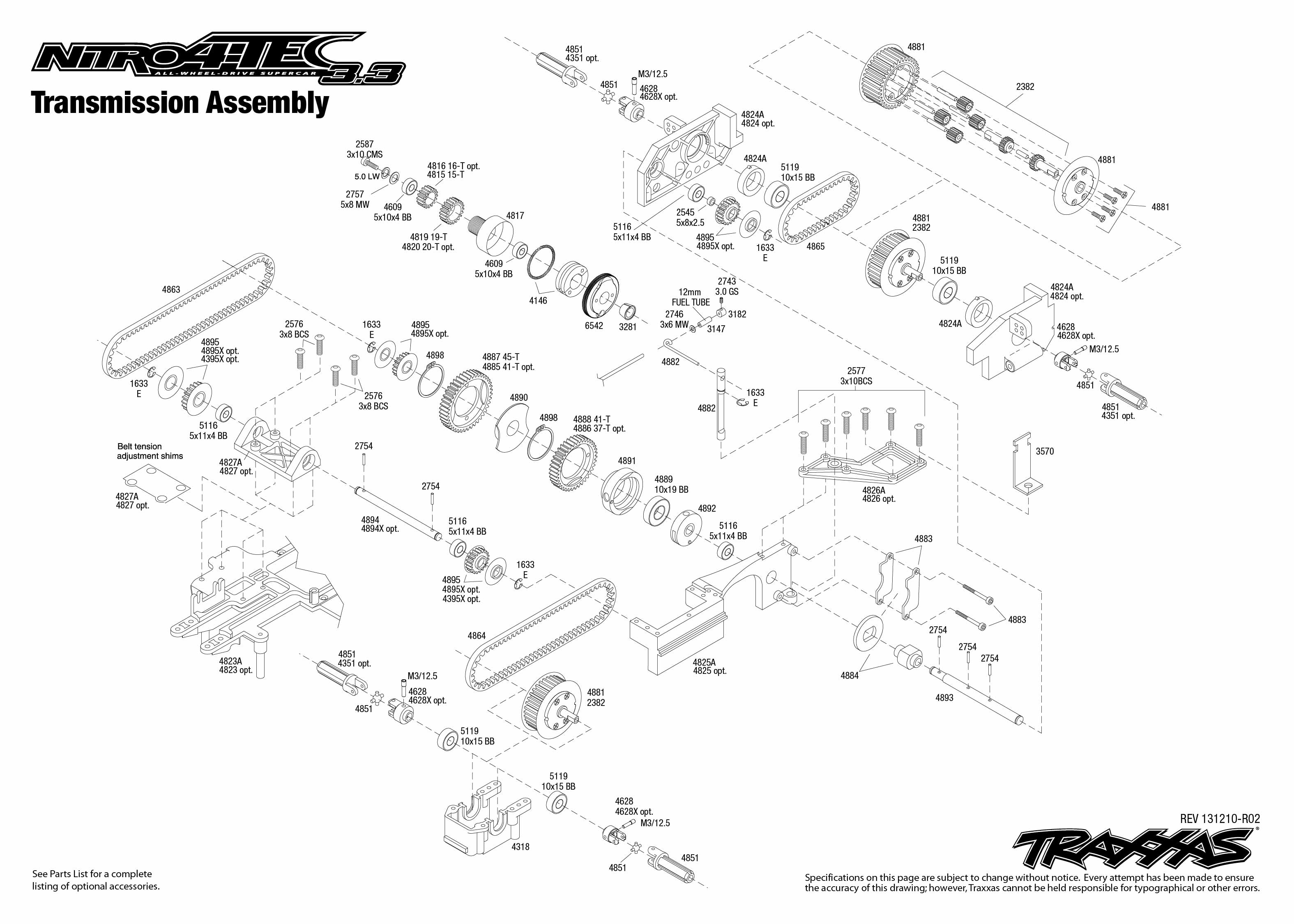 Nitro 4 Tec 3 3 Transmission Assembly