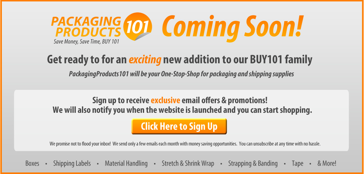 PackagingProducts101 is Coming Soon